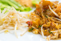 Close up image of Thai food Pad thai