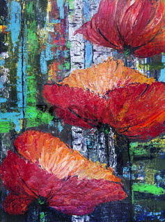Russian red poppies