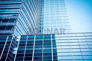 modern glass skyscraper