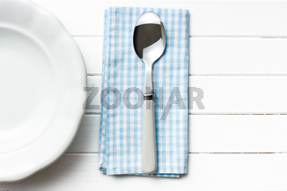 spoon and empty plate