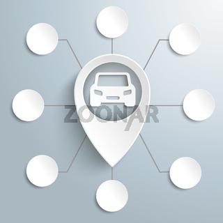 Big White Marker Car 8 Options PiAd