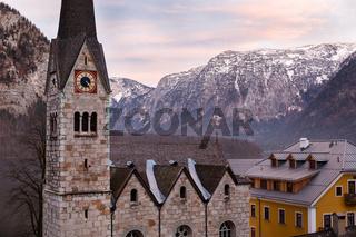 Protestant church of Hallstatt, Salzkammergut, Austrian Alps