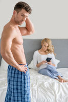 Middle Age Couple Fashion at Bedroom