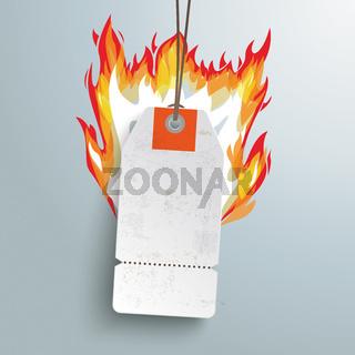 White Hot Price Sticker Silver Background PiAd