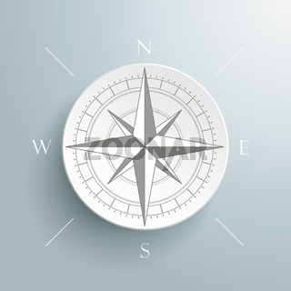Compass Silver Background