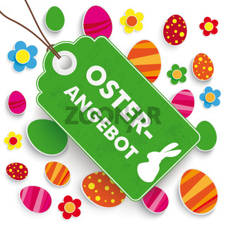 Easter Offer Price Sticker White