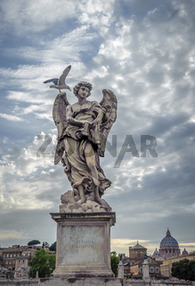 Sculpture of angel with Veronica's Veil, Sant'Angelo bridge, Rome