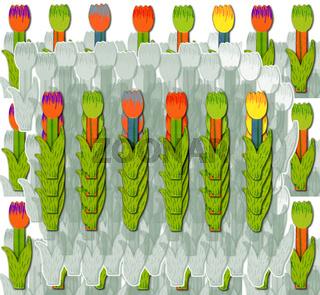 Muster mit bunten blühenden Tulpen