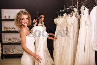 Young beautiful brides