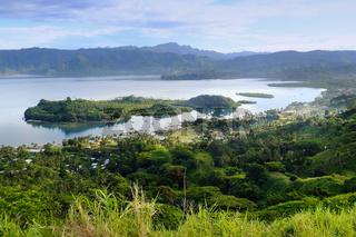 Savusavu marina and Nawi islet, Vanua Levu island, Fiji