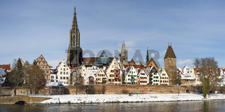 Snow on the roofs of Ulm