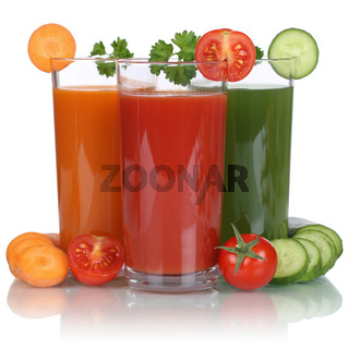 Gesunde vegane Ernährung Gemüse Saft wie Tomatensaft