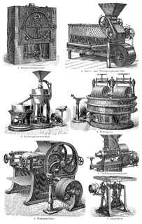 19th Century, machines for chocolate production,