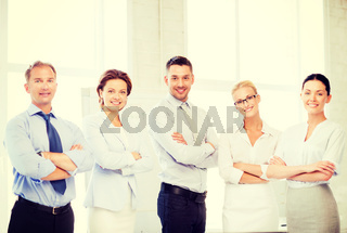 friendly business team in office