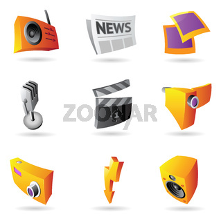 Icons for media