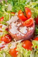 meat aspic salad on endive