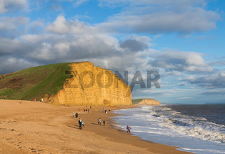 Beach and cliffs at West Bay Dorset in UK