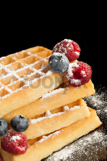 Traditional waffle.