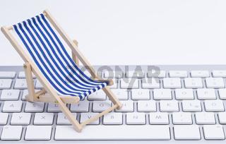 Tastatur mit Liegstuhl