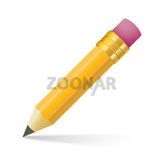 Pencil Shadow White Background