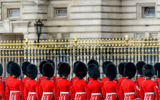 Royal guards at Buckingham Palace