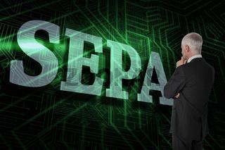Sepa against green and black circuit board