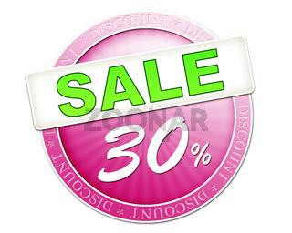 sale button 30%