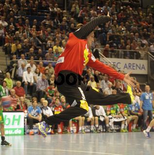 Dario Quenstedt (SC Magdeburg) Handball-Bundesligaspiel Saison 2013/14 SC Magdeburg-TUS N-Lübbecke