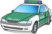 Polizeifahrzeug grün