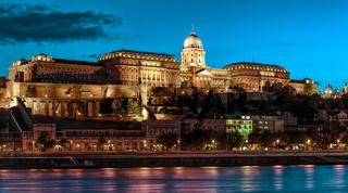 Royal Palace or Buda Castle at evening. Budapest, Hungary