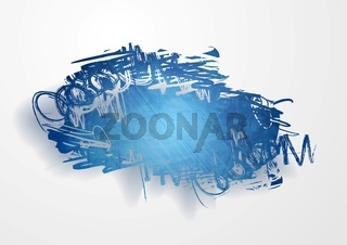 Vector grunge cloud background
