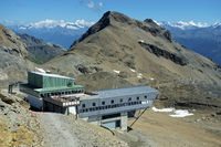 Bergstation Plaine Morte, Wallis, Schweiz