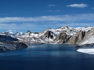 Beautiful Lake Tilicho, lake situated in high altitude, Nepal