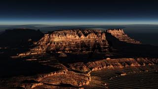Jordanische Wüste, Sonnenaufgang