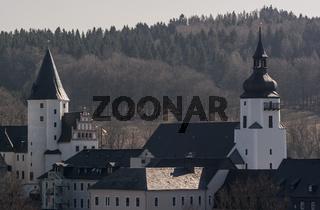 Burg und St.-Georgen-Kirche in Schwarzenberg