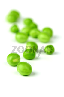 Pea bean pile isolated on white