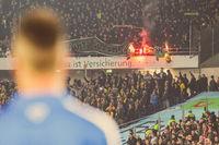 Eintracht Braunschweig Fans verbrennen Banner