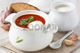 Beetroot soup borscht