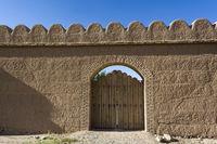 Historische Palastmauer in Afghanistan