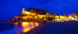 Tossa de Mar, Spain, ancient fortress Vila Vella