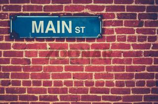 Retro Main Street Sign