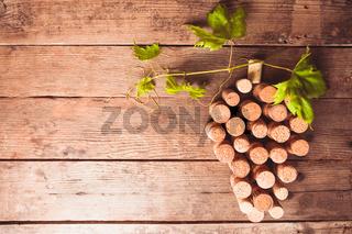 Wine corks on table