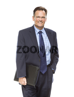 Handsome Businessman Portrait on White