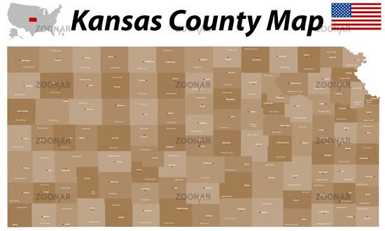 Foto Kansas County Map Bild #6639644