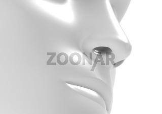 Nose white