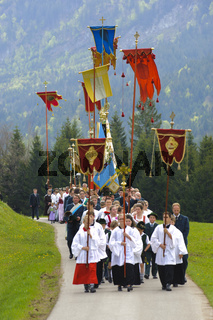Katholische Prozession in Bayern