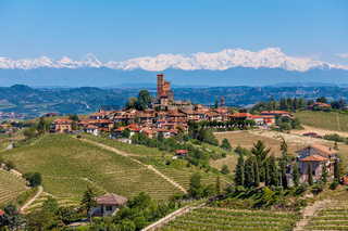 Small town on the hills of Piedmont, Italy.