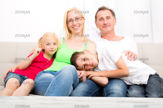 Family on the Sofa