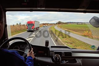 truck cockpit