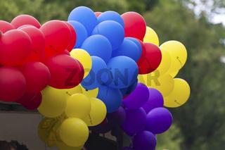 Luftballons beim Christopher Street Day in Berlin am 19.06.2010 - Ballons at the Christopher Street Day in Berlin on 19.06.2010